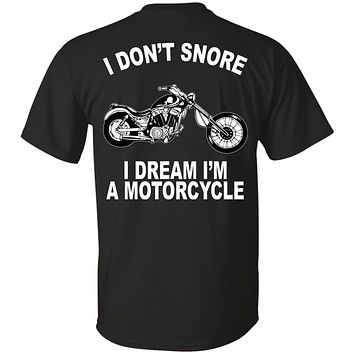Motorcycle Funny T-Shirt Gift For Dad Father's Day Gift Chopper Biker Gift Funny Snore T-Shirt