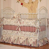 Vintage Carnival Crib Bedding   Cream and Red Baby Bedding