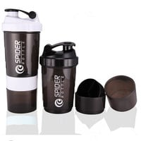 Sports Whey Protein Shaker Blender Mixer Cup Sports Fitness Gym 3 Layers Multifunction 500ML Bpa Free Shaker Bottle V1479
