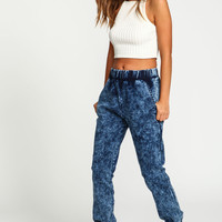 Acid Wash Jogger Pants