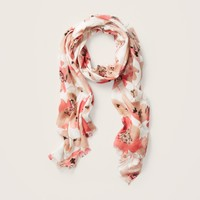 Painted Poppy Print Scarf
