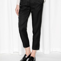 & Other Stories | Viscose Joggers | Black