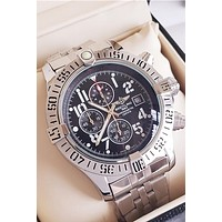 BREITLING tide brand men and women waterproof mechanical quartz watch silver