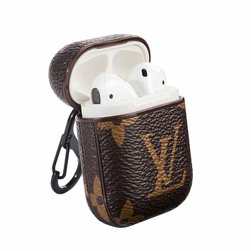 LV Louis Vuitton Vintage Airpods Case Apple Iphone Coffee