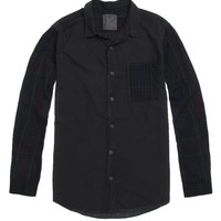 On The Byas Chris Blocked Long Sleeve Woven Shirt - Mens Shirt - Black