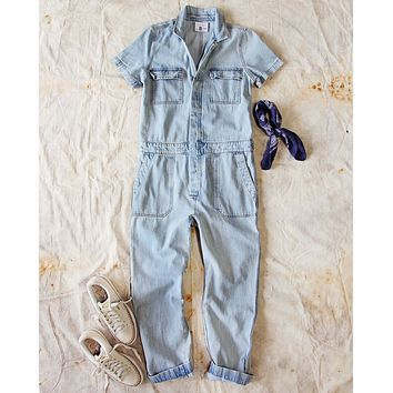 Rosie Coverall Jumpsuit in Denim