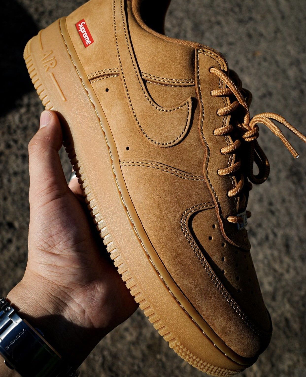 Image of Nike Air Force 1 Low Sup Brown 2021 Sneakers Shoes
