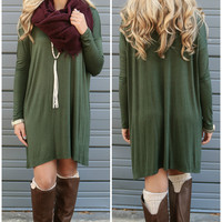 Becoming Royalty Olive Long Sleeve Dress