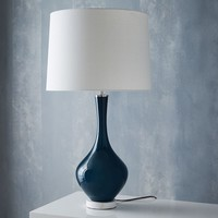 WEST ELM + REJUVENATION COLORED GLASS TABLE LAMP - TALL