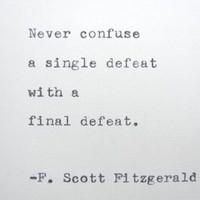 F SCOTT FITZGERALD Quote Made On Typewriter Wriers Quote