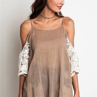 Fiona Lace Cold Shoulder Top
