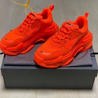 HCXX 19Sep 286 Balenciaga Triple S Outsole Transparent Crystal Air Cushion Fashion Casual Sneaker