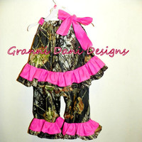 MOSSY OAK Camo camouflage top and matching by GranniDaniDesigns