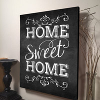 Home Sweet Home Sign Inspirational Quote Family Quote Signs Wall Hanging Art Housewarming Gift Home Decor Kitchen Decor Family Room Decor