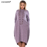 women Dress Winter Plus Size