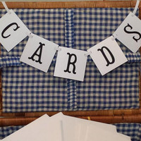 Mini Cards Banner, Cards Mini  Banner, Black And White Card Banner, Wedding Cards Mini Banner