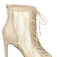 Lana Lace Booties - Nude