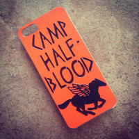 """HANDMADE  """"Percy Jackson"""" Inspired Camp Half Blood iPhone 4 / 4s Phone Case  cover TheSorcerersPhone The Sorcerers Phone  5c 5s Half-Blood"""