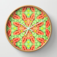 Sphynx Cat Pattern Wall Clock by chobopop