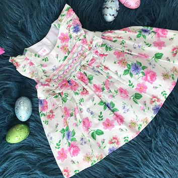 Bonnie Baby Floral Embroidered Dress