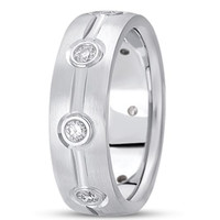 0.40ctw Diamond 14K Gold  Wedding Band (7mm) - (F - G Color, SI2 Clarity)