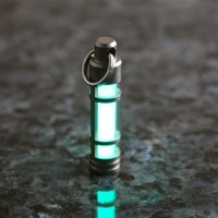 Glow Fob - Stainless Steel Glow In The Dark Keychain - TEC S3 by TEC Accessories