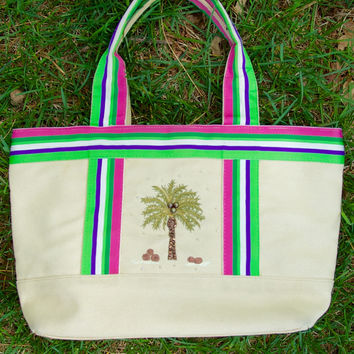Tropical Palm Tree Purse