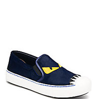 Fendi - Buggies Leather & Calf Hair Slip-On Sneakers - Saks Fifth Avenue Mobile