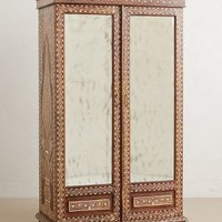Bone Inlay Armoire by Anthropologie in Brown Size: One Size Furniture
