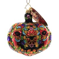 Christopher Radko DIA DE LOS MUERTOS PUMPKIN Ornament Halloween Day Of Dead 1019997