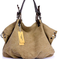Shoulder Rivet Canvas Bag