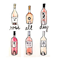 Bar Cart Art: Rosé All Day