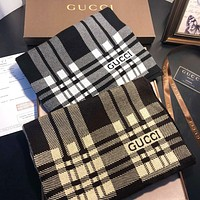 GUCCI New fashion letter stripe print keep warm couple scarf