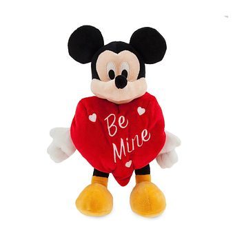 "Disney Parks 2019 Mickey Mouse Happy Valentine's Day Be Mine Plush 11"" New"