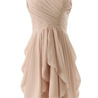 Dressystar® Chiffon Bridesmaid Dress Short Sweetheart Homecoming Dance Gown