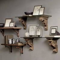 Gothic Corbel & Glass Shelf
