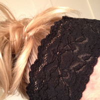 One Soft Wide Stretch Lace Headband Hair Black Yoga Fitness Workout Headbands No Mark Headaches DOLLAR SHIP in US