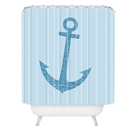 Matt Leyen Anchors Awaves Shower Curtain