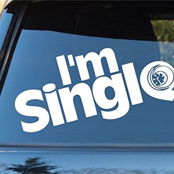 Im Single Turbo Car Window Windshield Lettering Decal Sticker Decals Stickers Drift DUB VW Stance Audi Lowered