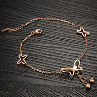 Cupshe Brighter Day Tassel Butterfly Anklet