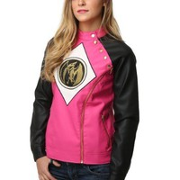 Power Rangers Pink Ranger Womens Moto Jacket