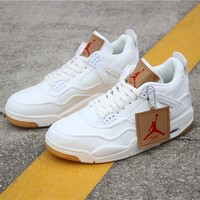 Levi¡¯s x Air Jordan 4 Retro ¡°White Denim¡±