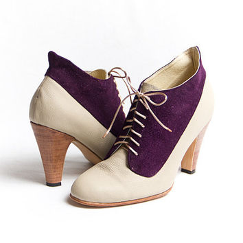1920's vintage inspired two tones high heels FREE WORLDWIDE SHIPPING