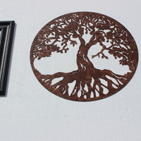 Tree of Life Sign Metal Wall Accent