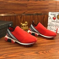 Dolce & Gabbana D&G Stretch Mesh Sorrento Sneakers Red - Best Online Sale