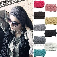 Crochet Headband Knit Hairband Winter Women Ear Warmer Headwrap