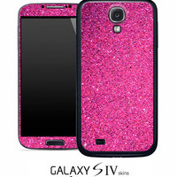 Pink Glitter Skin for the Samsung Galaxy S4, S3, S2, Galaxy Note 1 or 2