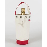 Single Champagne Bag- Red