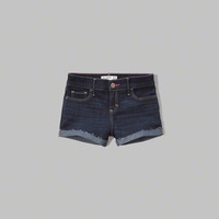 a&f shortie denim shorts