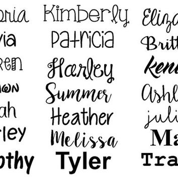Any Word Decal   Personalized Name Decal   Name Decal   Customized Decal   Word Vinyl Decal   Various Font Decals   Car Decal  Vinyl